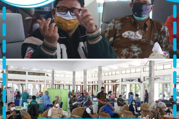 Monitoring Pemantauan Pelaksanaan Vaksinasi di Wilayah LO di Pendopo Kab. Garut